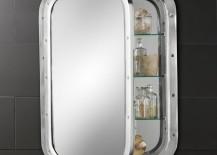 Submarine-style medicine cabinet from Restoration hardware