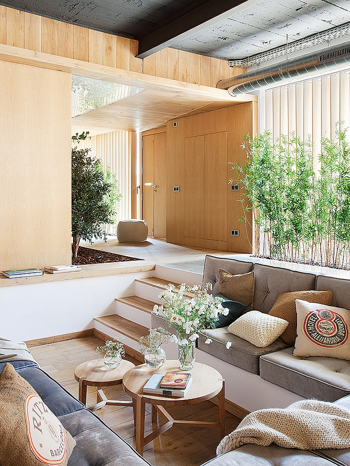 View In Gallery Sunken Conversation Pit In Rustic Loft