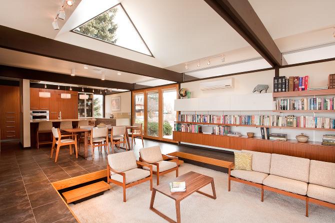 Sunken Living Room in Busch House
