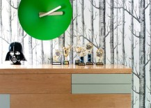 Trophy collection on a bedroom dresser