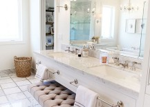 Tufted-bench-with-lucite-legs-for-bathroom-vanity-217x155