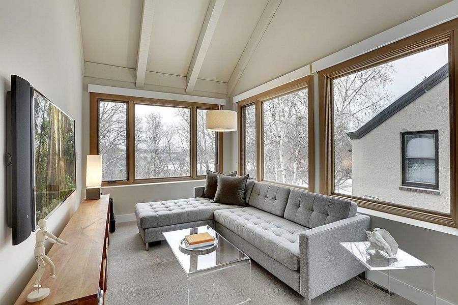 Turn the sunroom into a relaxing TV room [Design: Ben Ganje + Partners]