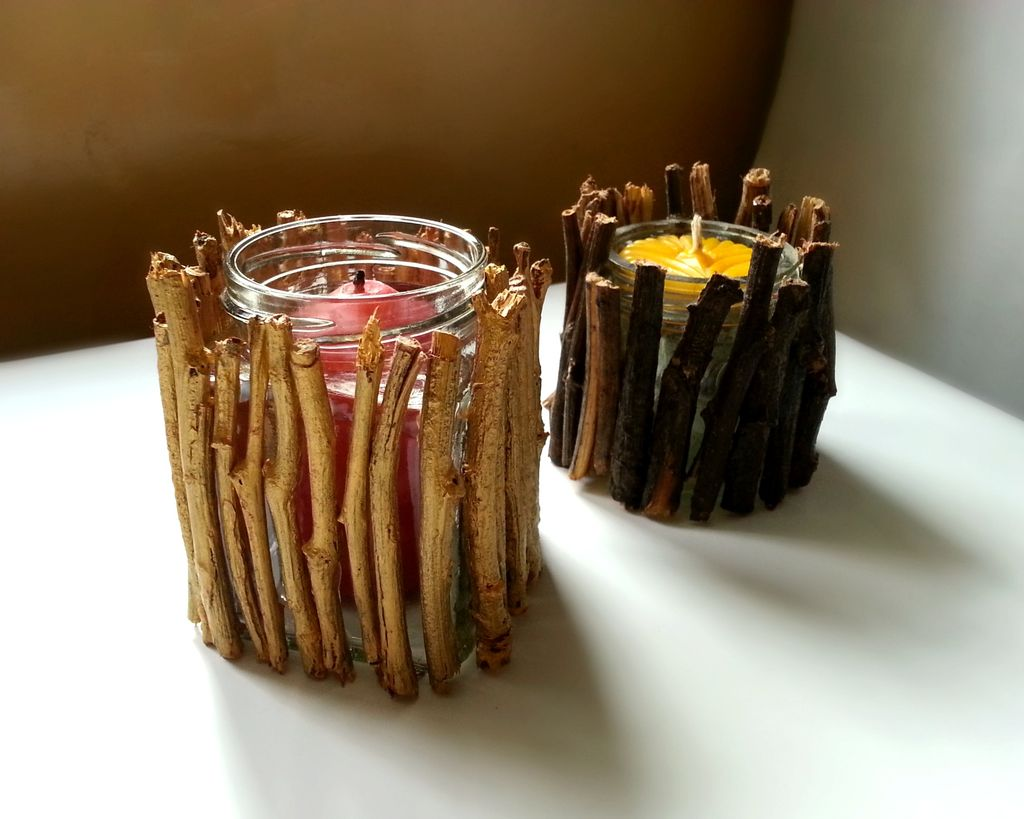 8 easy diy wood candle holders for some rustic warmth this. Black Bedroom Furniture Sets. Home Design Ideas
