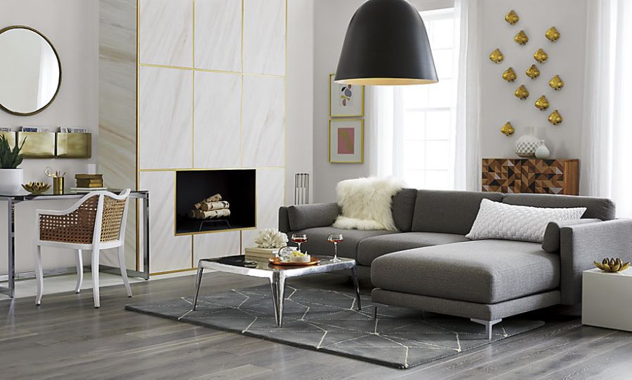 Two-piece sectional sofa from CB2