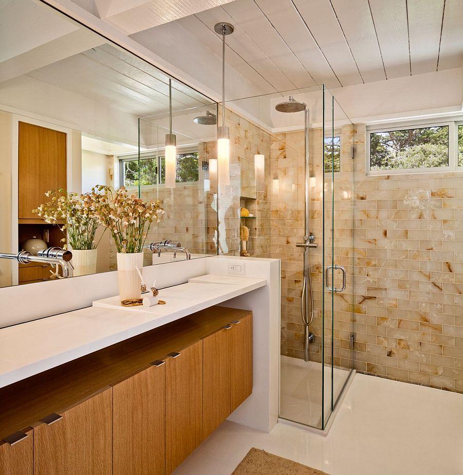 Unique bathroom vanity design for the small and sleek bathroom