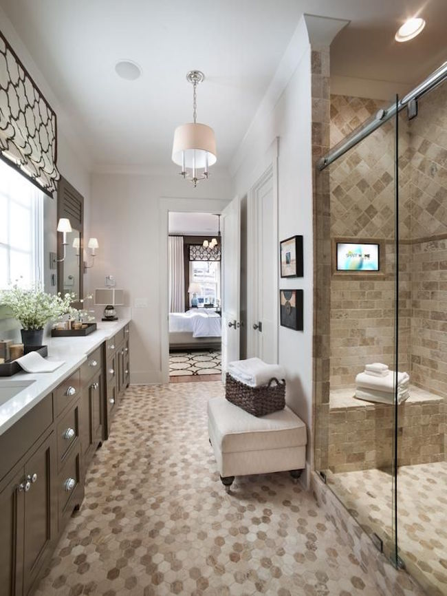 master bathroom. View In Gallery Upholstered Ottoman Master Bathroom 25 Bathroom Bench And Stool Ideas For Serene Seated Convenience