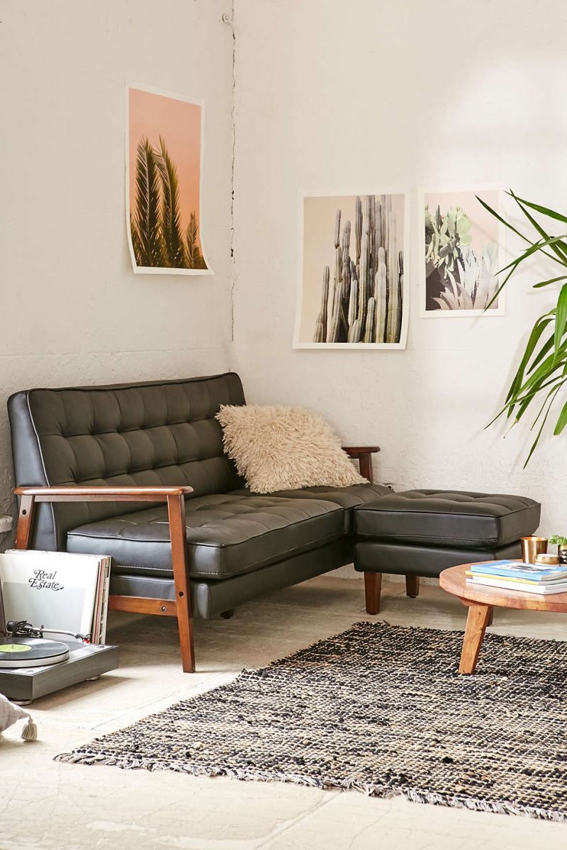 Vegan leather sectional from Urban Outfitters