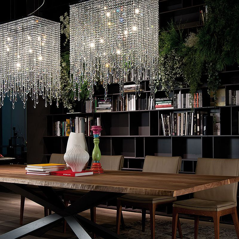 Venezia serves both as a pendant and chandelier