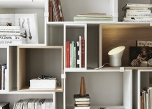 Versatile Stacked system modular shelves 217x155 12 Well Thought Out Modular Shelving Systems