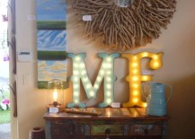 Vintange marquee letters to dress up an old worn dresser 217x155 22 Illuminating Vintage Marquee Lighting Ideas
