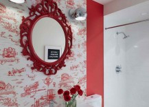 Wallpaper-in-red-with-interesting-motif-for-the-vivacious-powder-room-217x155