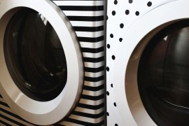Washer and dryer makeover from A Beautiful Mess