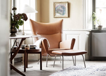 Wegner Wing Chair in home of Knud Erik Hansen 217x155 The Captivating Danish Home of Carl Hansen & Søns CEO