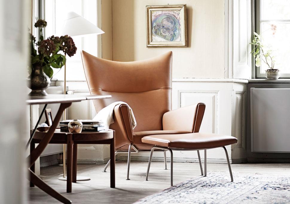 Wegner Wing Chair in home of Knud Erik Hansen