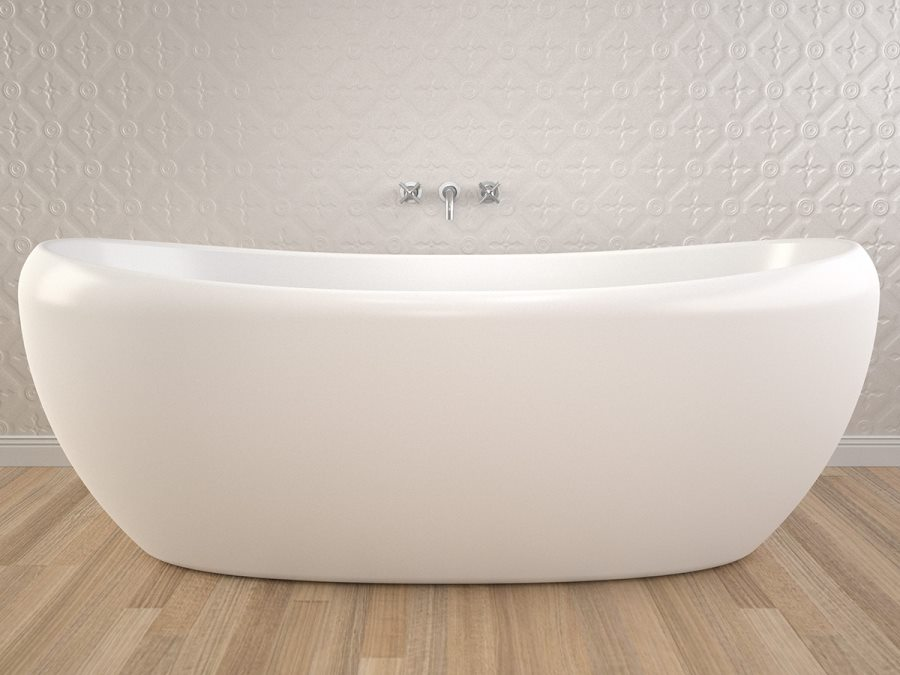White Caroma tub available through Reece