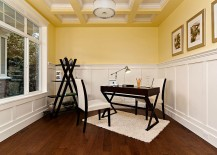 White-and-yellow-home-office-with-unique-ceiling-and-modern-style-217x155