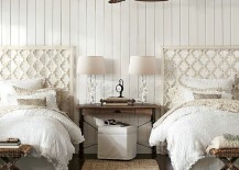 White coastal themed guest room with twin beds 217x155 22 Guest Bedrooms with Captivating Twin Bed Designs