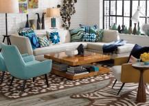 White sectional sofa from Jonathan Adler