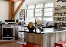 Wood and granite kitchen workstation