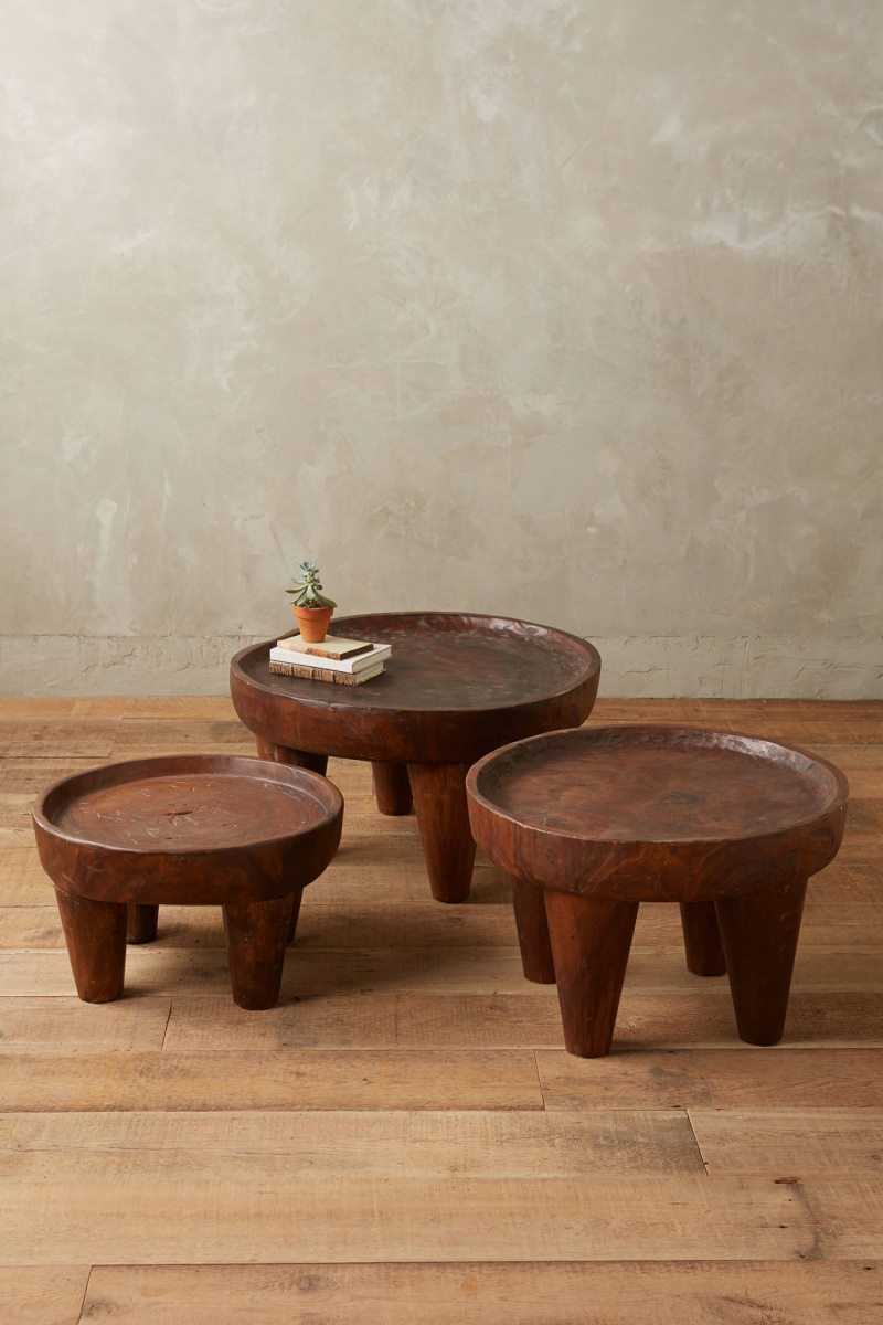 Wooden side tables from Anthropologie