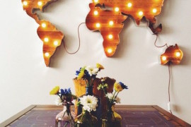 World map marquee sign hung on the wall  22 Illuminating Vintage Marquee Lighting Ideas World map marquee sign hung on the wall 270x180