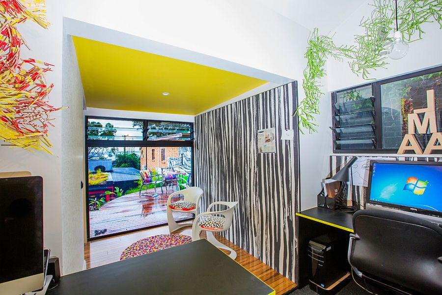 Yellow infuses electric charm to this snazzy home office [Design: Studio 74]