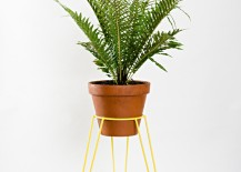 Yellow plant stand from Etsy shop WirelyHome 217x155 The 10 Best Standing Planter Options for Your Interior