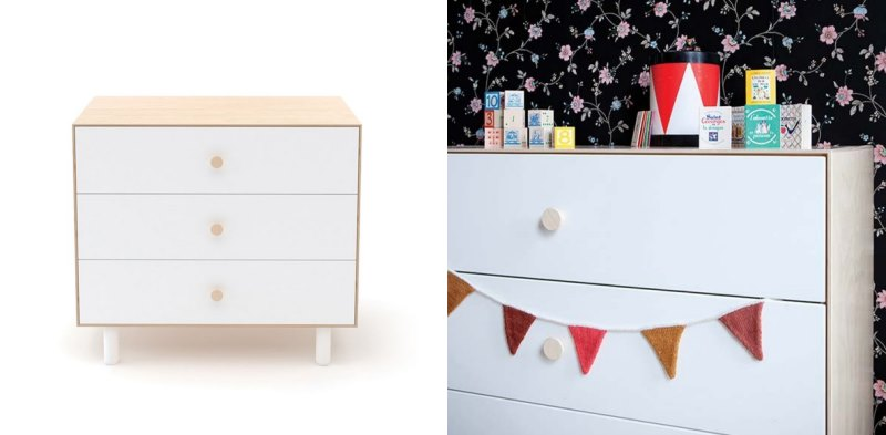 3-drawer dresser from Oeuf
