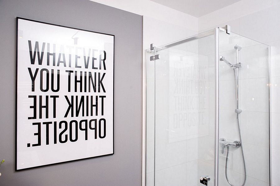 A bit of inspiration in the contemporary bathroom!