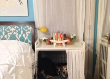 A clever way to hide a regular dog crate