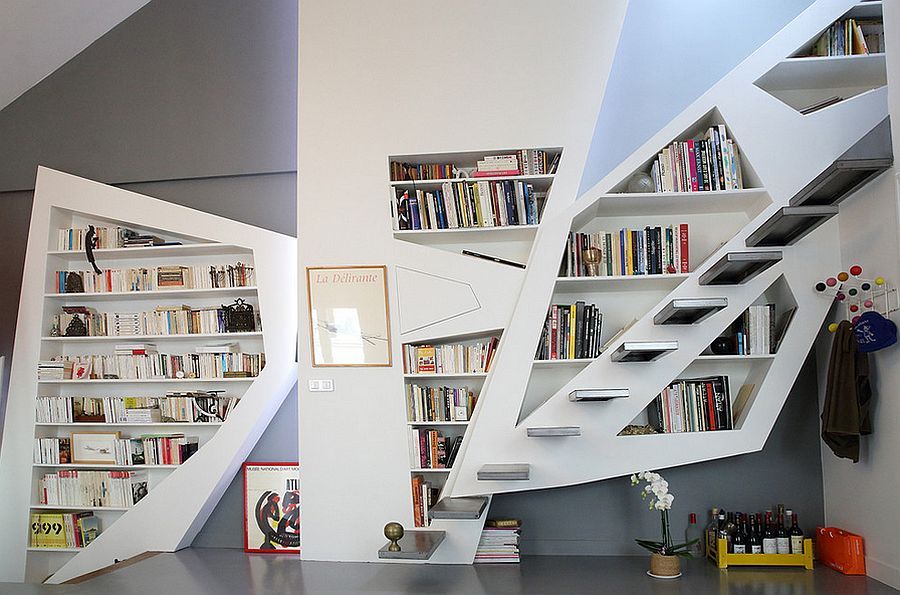 A stairway to heaven for booklovers! [Design: Galaktik]