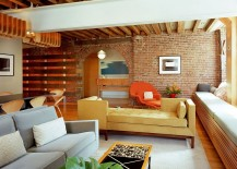 A tete a tete sofa can make your life a lot easier! [Design: BarlisWedlick Architects, Tribeca Studio]