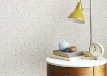 Abstract moon wallpaper from West Elm