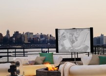 All you need is a small outdoor nook for a charming home theater under the sky