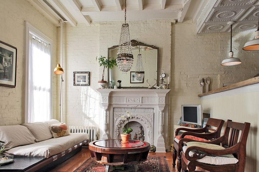 Antiques give the living room a sense of uniqueness [Design: Laura Garner]