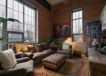 Asian living room with red brick walls [From: Teri Fotheringham Photography]