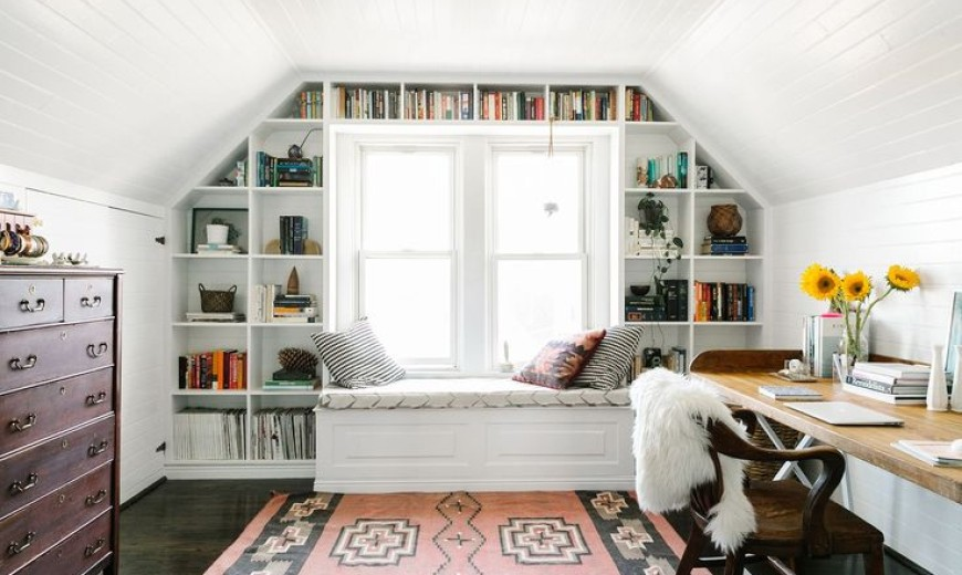 & 15 Bright Attic Spaces for an Office or Studio