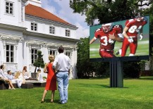 Awesome outdoor TV for the expansive outdoor home theater