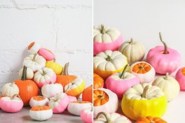 Balloon-dipped pumpkins from Paper & Stitch 20 Last-Minute Halloween Ideas with Modern Flair 20 Last-Minute Halloween Ideas with Modern Flair Balloon dipped pumpkins from Paper Stitch 270x180