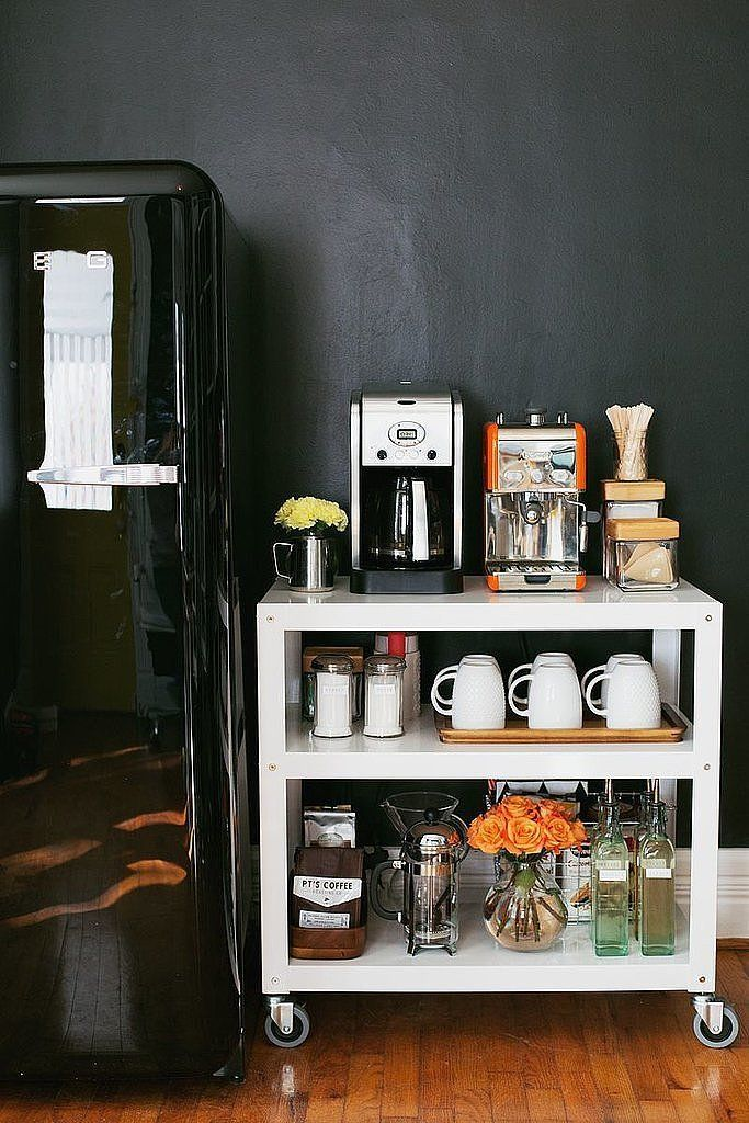 20 charming coffee stations to wake up to every morning for Coffee station ideas for the home