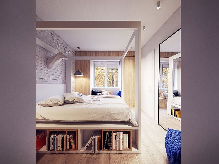 Beautiful bed with space for storage underneath