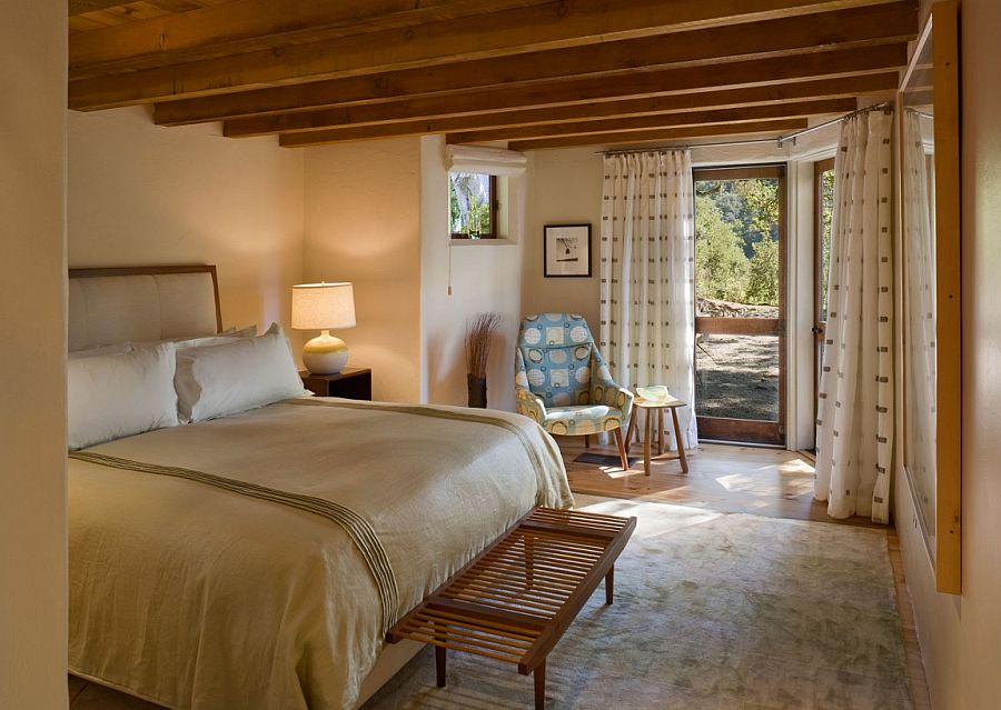 Bedroom of the cabin home offers a relaxing and serene personal sanctuary