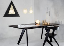 Black Tom Dixon dining table