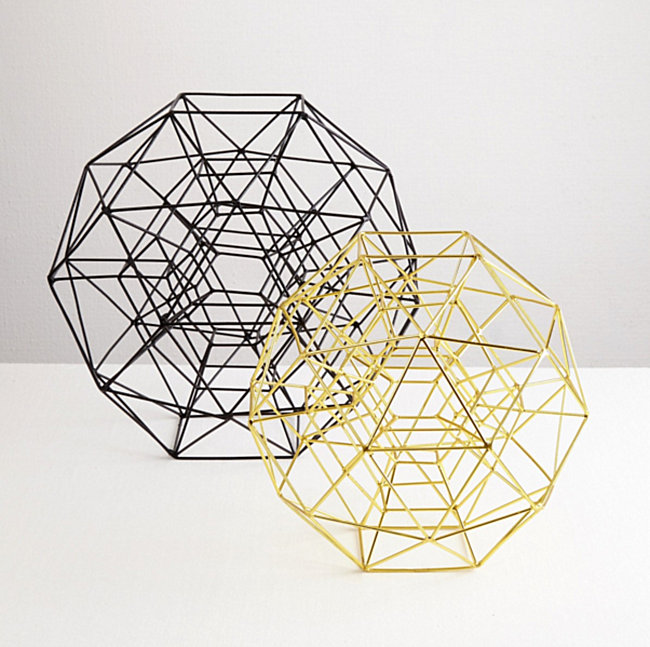 Black and brass globes from Darkroom