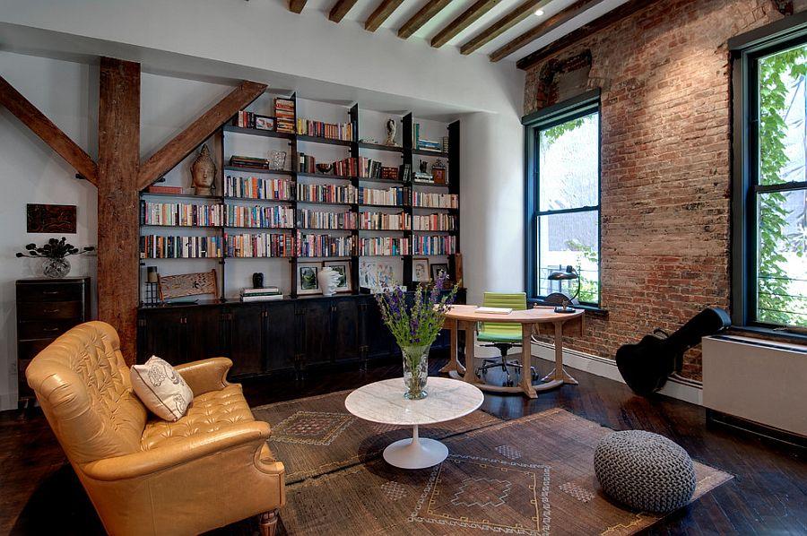 Bookshelf adds to the visual of the elegant living room [Design: Reiko Feng Shui Design]