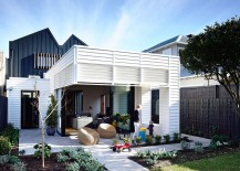 Box like rear exterior of the Auckland home inspired by shipping container design 217x155 Trendy Rear Extension Revitalizes Classy Double Fronted Auckland Cottage