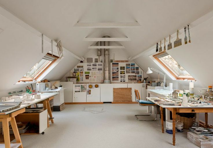 Superior ... Bright And Spacious Attic Converted To An Art Studio