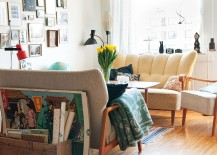 Bring back the retro decor to decorate the shabby chic living room
