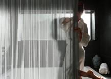 Cascade coil luxury shower curtain