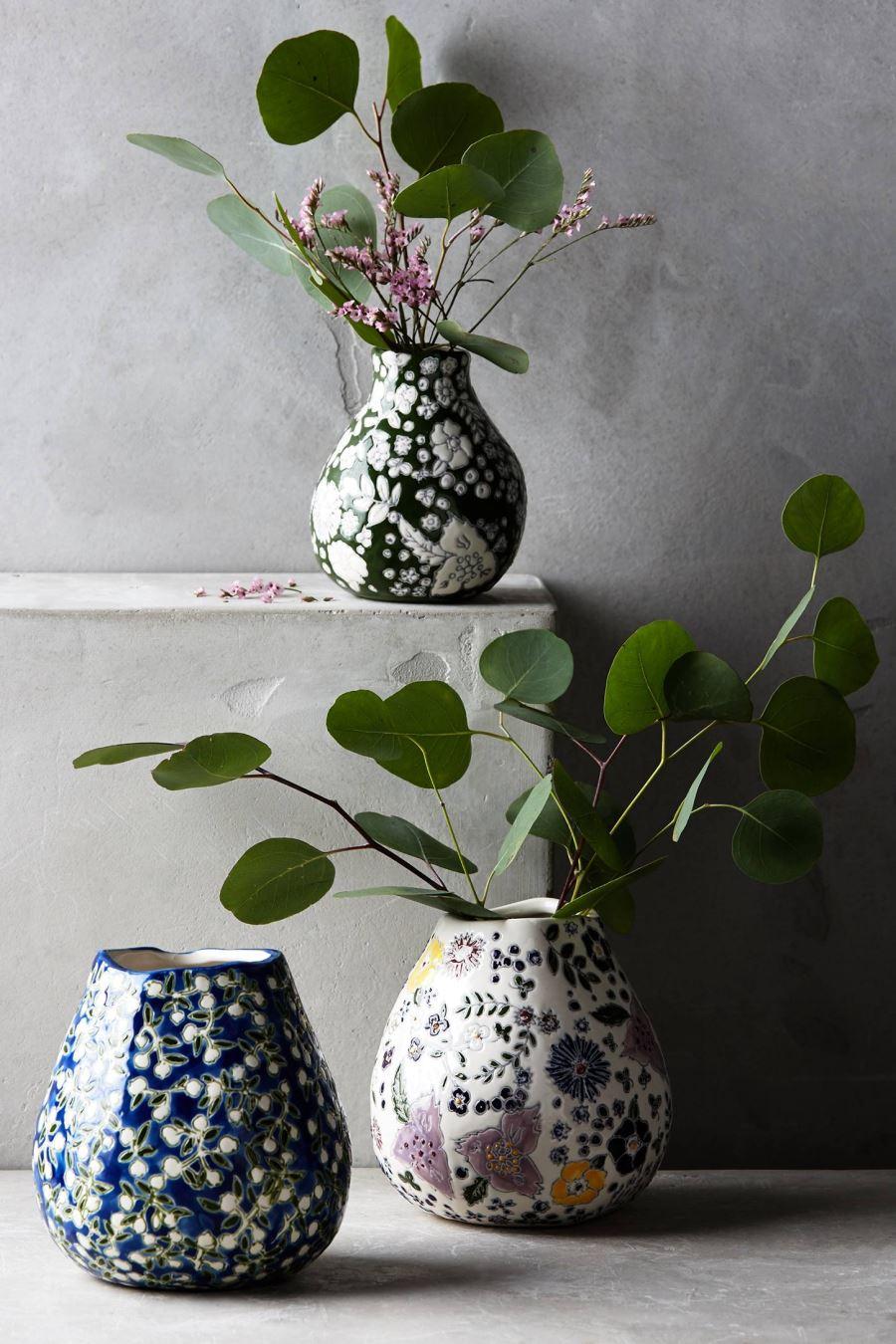 Ceramic vases from Anthropologie